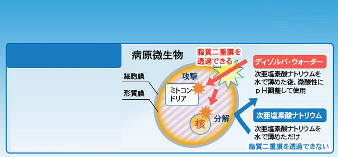 ディゾルバウォーターの除菌効果